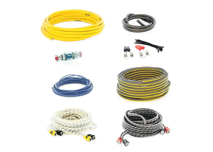Swat PAC-F8 набор проводов для подключения усилителя 8GA