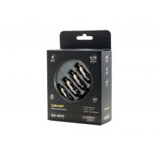 SWAT SIX-4075 межблочный кабель 4RCA-4RCA