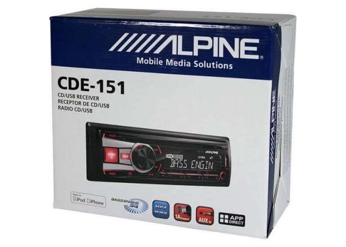 Автомагнитола ALPINE CDE-151E