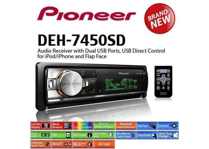 Автомагнитола PIONEER DEH-7450SD