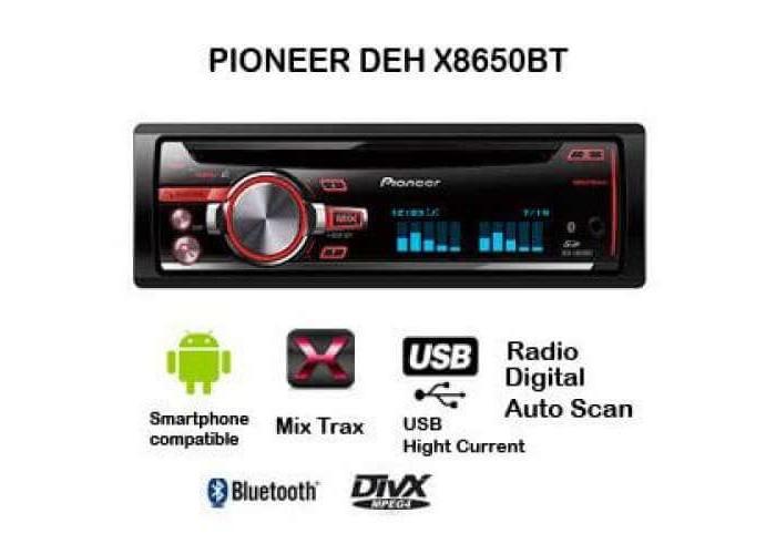 Автомагнитола PIONEER DEH-X8650BT