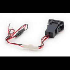 USB разъем в штатную заглушку Honda-Acura Carav 17-305