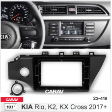 """Рамка CARAV 22-419 10.1"""" KIA Rio/K2/KX Cross 2017+"""