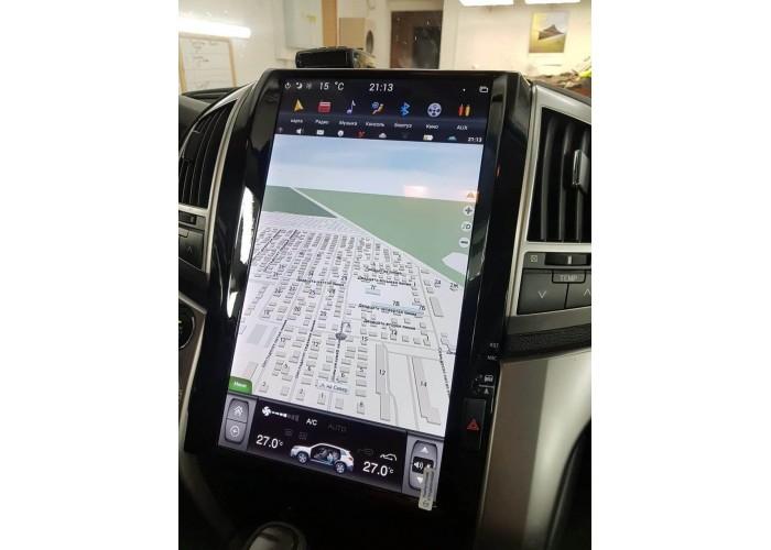 "Штатная магнитола Tesla Style CF-3181px6 4+32GB 16"" TOYOTA LC200 2008-2015 (араб)"