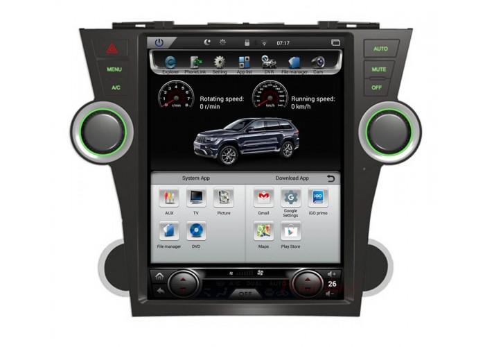 Штатное головное устройство Tesla Style TOYOTA HIGHLANDER 2010-2012 2+32GB