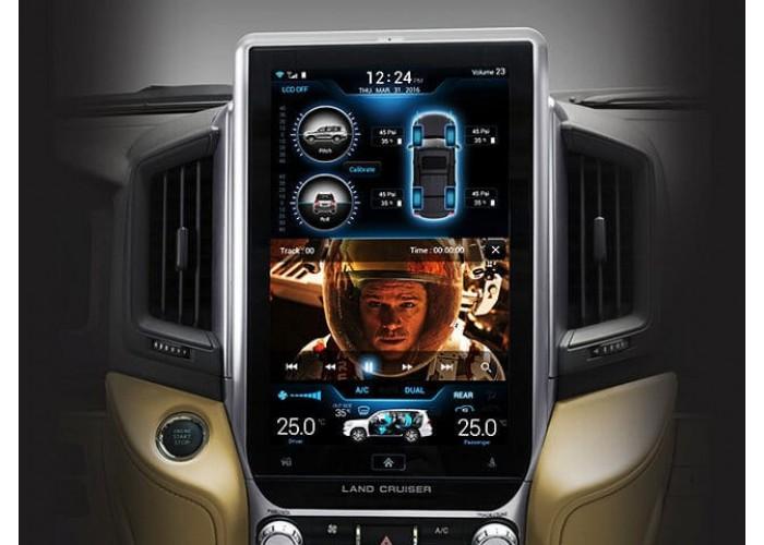 Штатное головное уcтройство Tesla Style TOYOTA LAND CRUISER LC200 2018 2+32GB