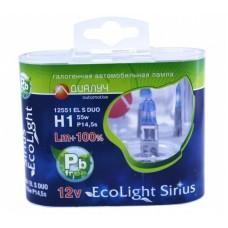 Галогенная лампа Диалуч H1 +100% Eco Light Sirius