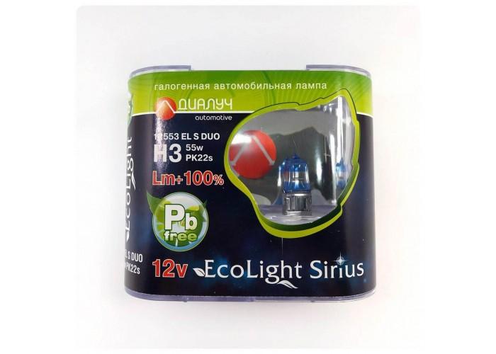 Галогенная лампа Диалуч H3 +100% Eco Light Sirius