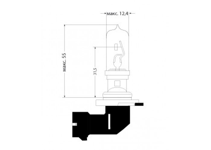 Галогенная лампа Диалуч HB3 65W