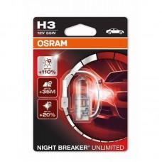 Галогенная лампа OSRAM H3 Night Breaker unlimited