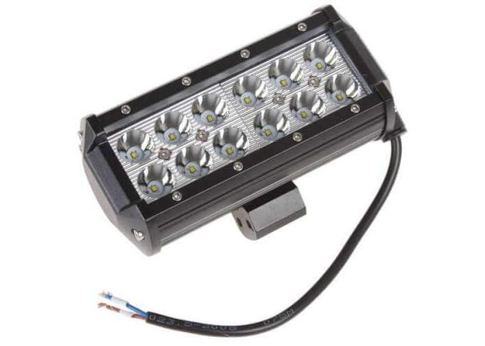 Двухрядная LED балка 36Вт (крепление снизу 16.7см)