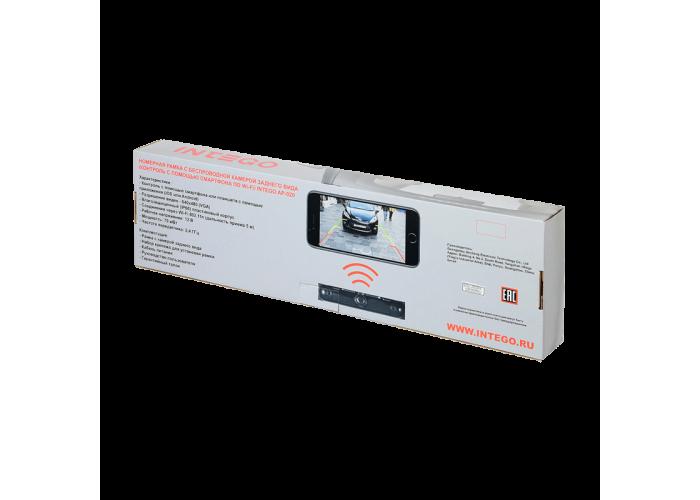 Рамка номерного знака с WiFi камерой заднего вида Intego AP-020