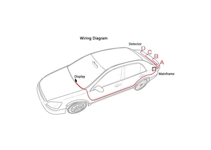 Парктроники Parking Sensor CRS 5900 БЕЛЫЕ