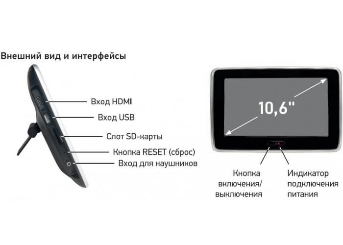 Универсальный монитор в подголовник INCAR CDH-105BL