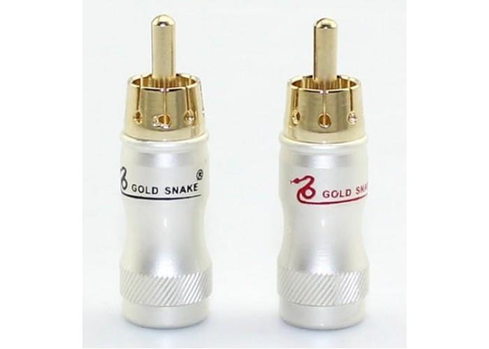 RCA наконечники Gold Snake