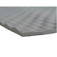Звукотеплоизоляция ППУ Серый Волна Рельеф 15мм 0.75*1м