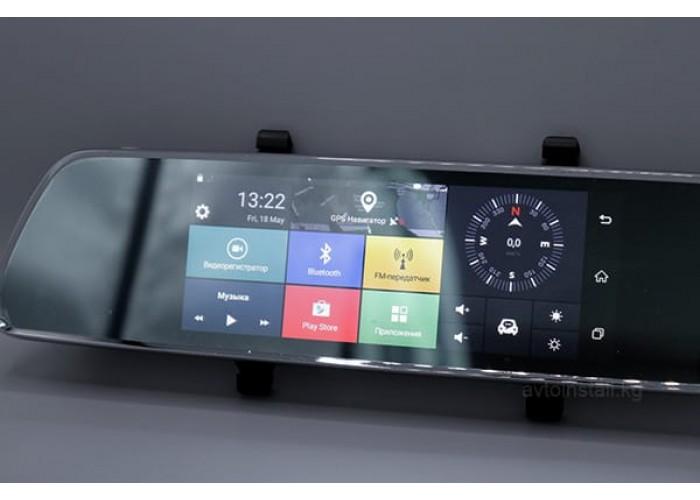 Зеркало-видеорегистратор Dual Android 7.0 дюймов