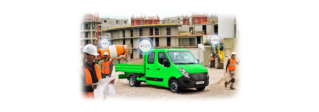 Возможна установка на грузовой транспорт 24v